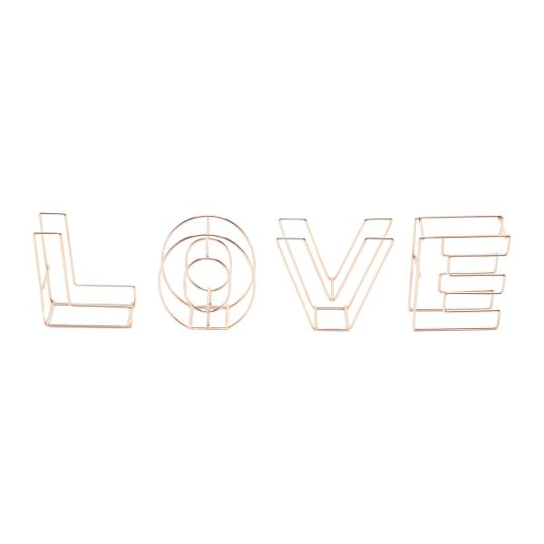LETRA DECORATIVAS METAL LETERING WIRE LOVE ROSE